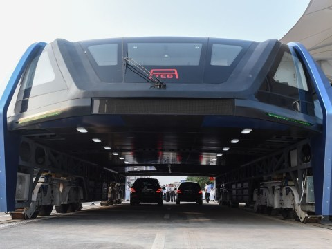 China's elevated road bus is now actually a thing