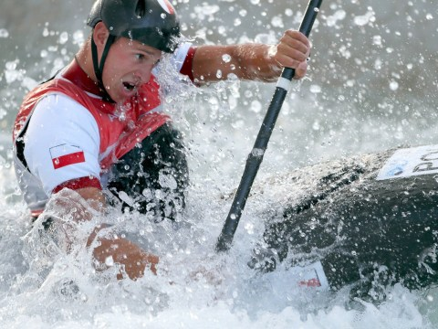 Rio 2016 investigating reports that kayaker capsized after hitting submerged sofa