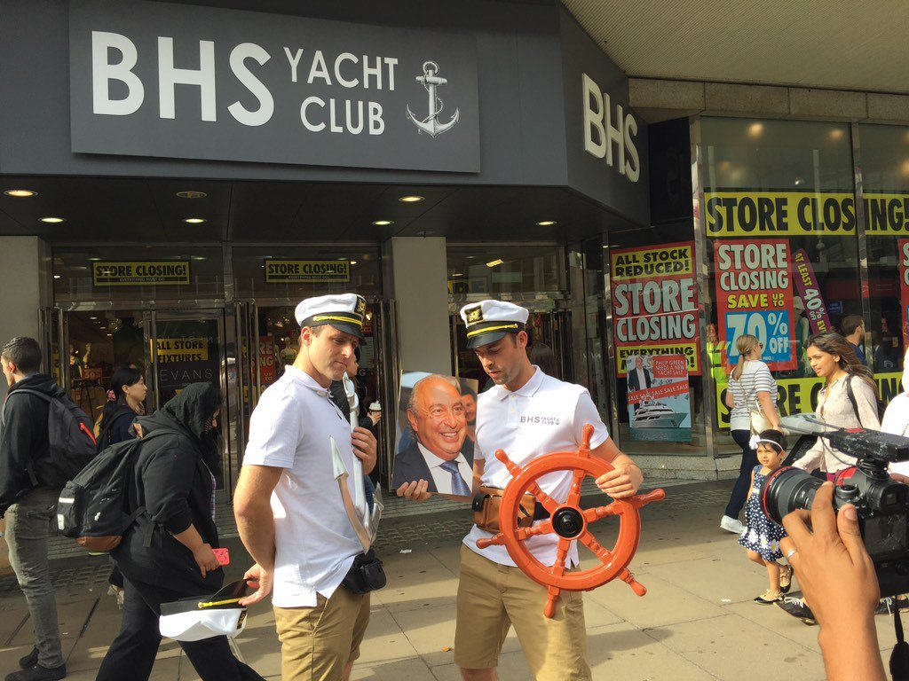 BHS store turned into 'Yacht Club' as diss to disgraced billionaire owner Philip Green