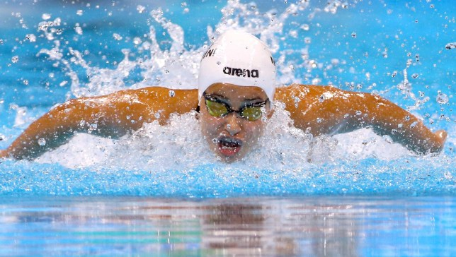 2016 Rio Olympics - Swimming - Preliminary - Women's 100m Butterfly - Heats - Olympic Aquatics Stadium - Rio de Janeiro, Brazil - 06/08/2016. Yusra Mardini (SYR) of Refugee Olympic Athletes competes REUTERS/David Gray FOR EDITORIAL USE ONLY. NOT FOR SALE FOR MARKETING OR ADVERTISING CAMPAIGNS.