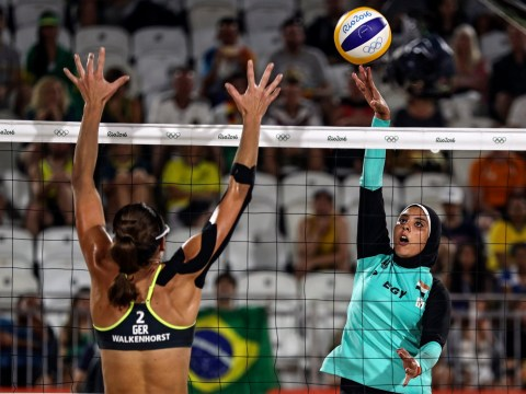 Beach volleyball displays cultural contrasts coming together at the Olympics