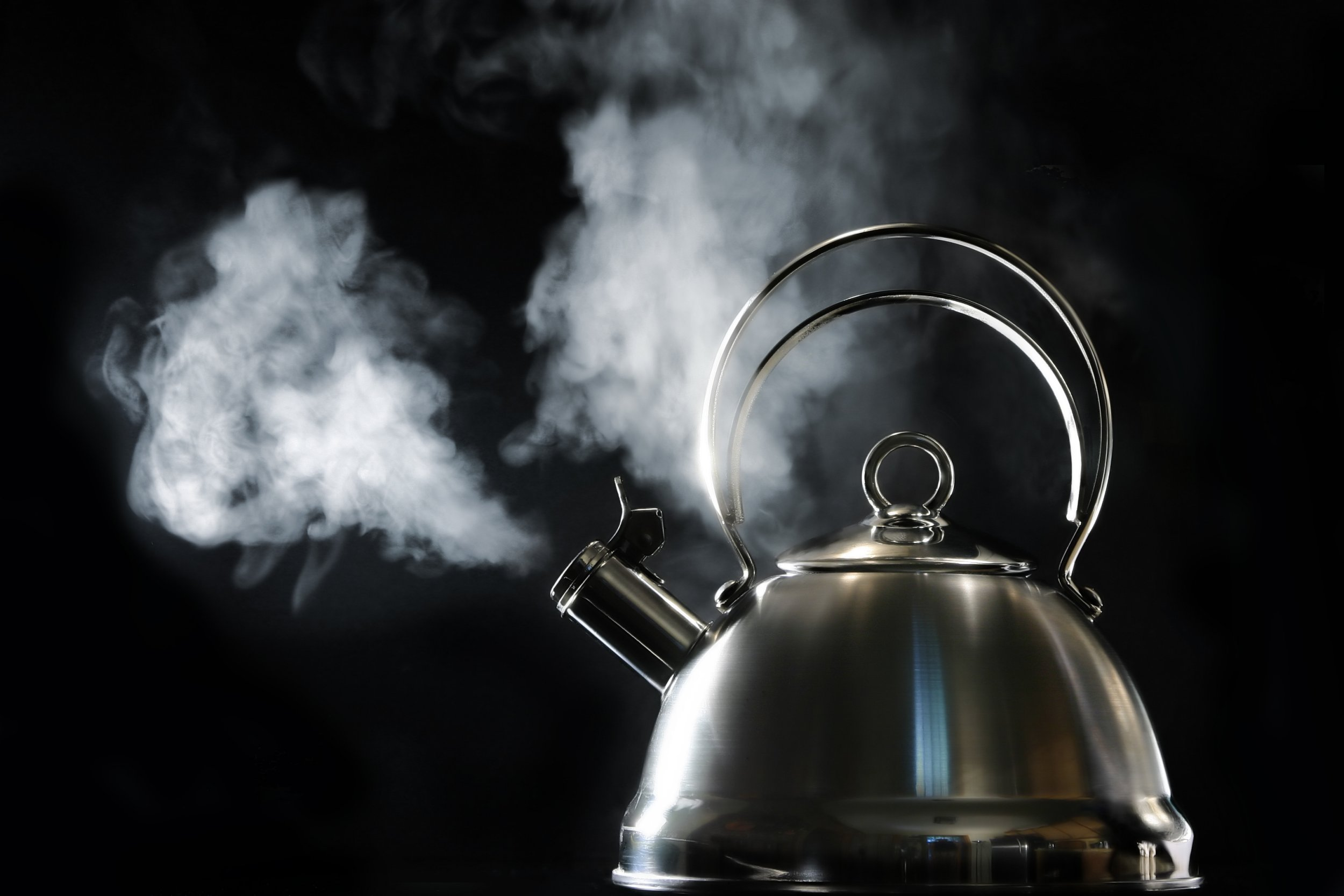 Hot kettle boiling and steaming.http://www.lisegagne.com/images/stilllife.jpg