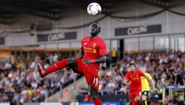 "Football Soccer Britain - Burton Albion v Liverpool - EFL Cup Second Round - Pirelli Stadium - 23/8/16 Liverpool's Sadio Mane in action Reuters / Darren Staples Livepic EDITORIAL USE ONLY. No use with unauthorized audio, video, data, fixture lists, club/league logos or ""live"" services. Online in-match use limited to 45 images, no video emulation. No use in betting, games or single club/league/player publications. Please contact your account representative for further details."