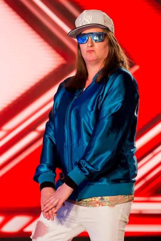 MANDATORY CREDIT REQUIRED: SYCO/THAMES TV ITV undated handout photo of Honey G, otherwise known as 35-year-old Anna Georgette Guilford, during the audition stage for the ITV1 talent show, The X Factor. PRESS ASSOCIATION Photo. Issue date: Saturday August 27, 2016. See PA story SHOWBIZ XFactor. Photo credit should read: Syco/Thames TV/PA Wire NOTE TO EDITORS: This handout photo may only be used in for editorial reporting purposes for the contemporaneous illustration of events, things or the people in the image or facts mentioned in the caption. Reuse of the picture may require further permission from the copyright holder.
