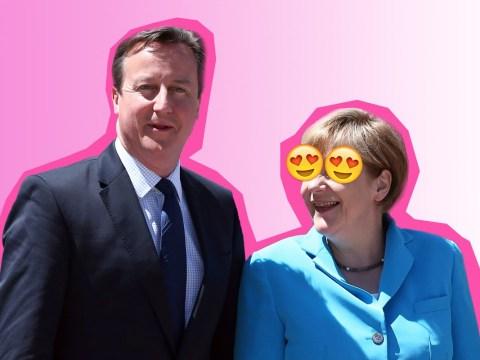 Angela Merkel 'quite fancied' David Cameron, his biographer reckons