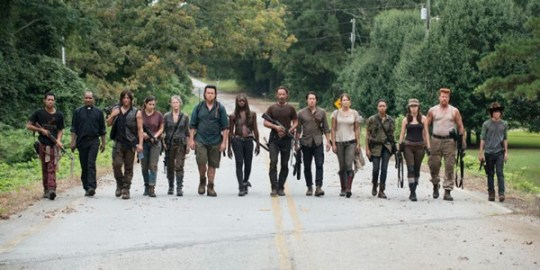 There is still a bit of a wait until The Walking Dead season 7 (Picture: AMC)The original stars of TV series The Walking Dead (Picture: AMC)