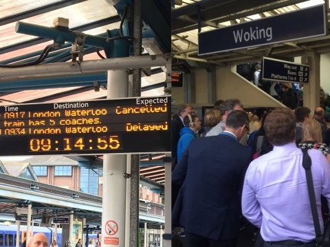 Thousands of commuters endure train chaos after signal failure