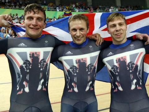 Team GB break Olympic record to claim gold in men's team sprint