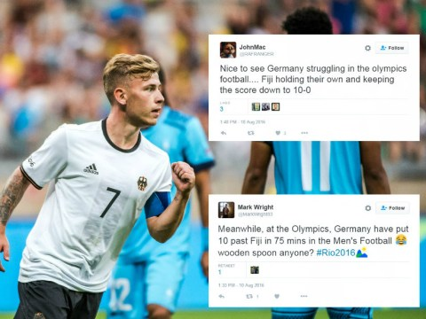 Football fans troll Olympic football after Germany hammer Fiji 10-0 in Rio