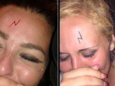 Drunk people are getting Harry Potter lightning bolt scar tattoos on their heads