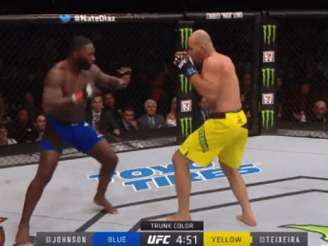 Anthony Johnson ends Glover Teixeira's title challenge with brutal 13-second knockout at UFC 202
