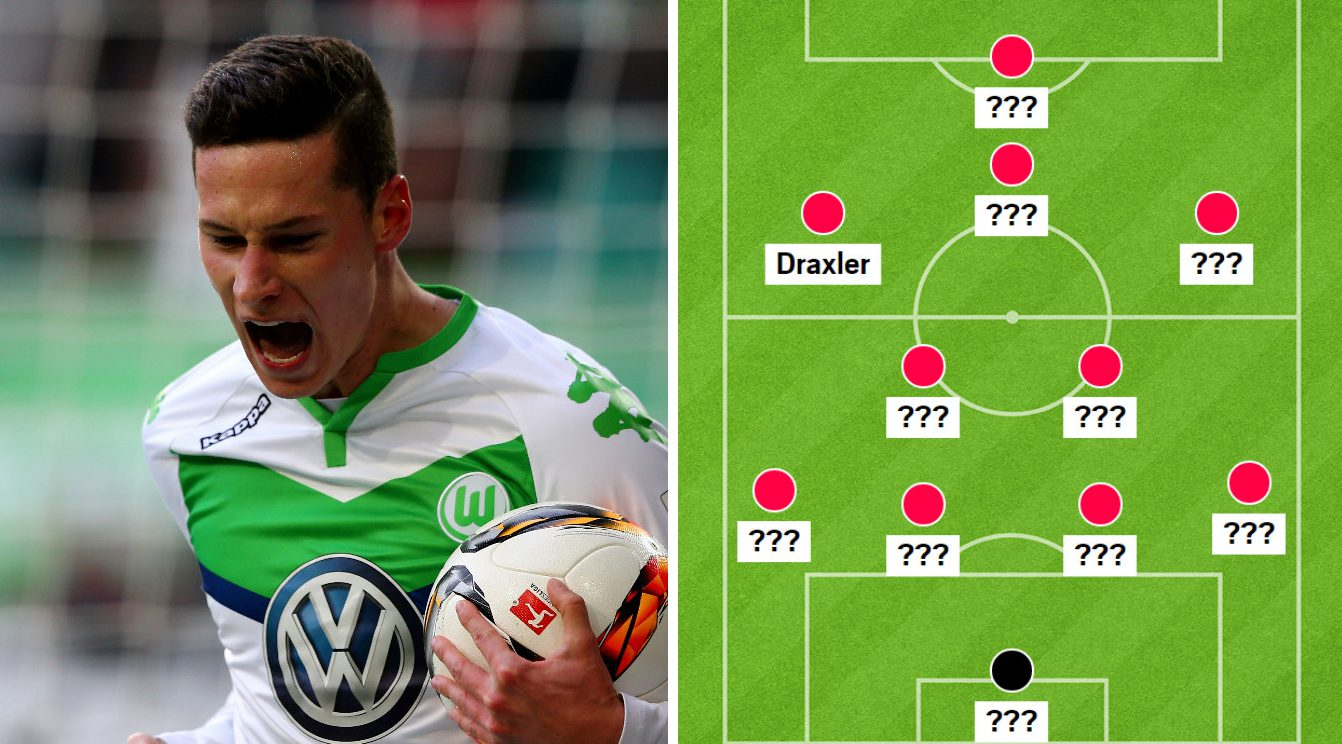 Five ways Arsenal could line up if they seal Julian Draxler transfer