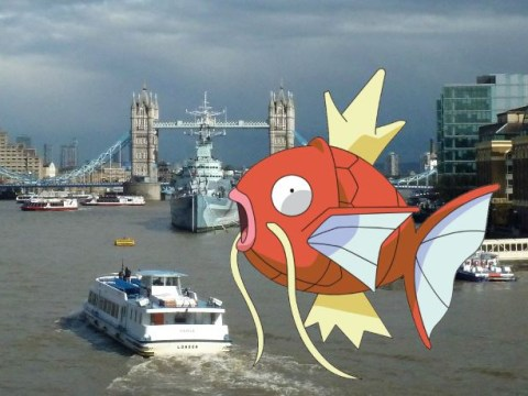 You can go on a Pokemon fishing trip down the River Thames
