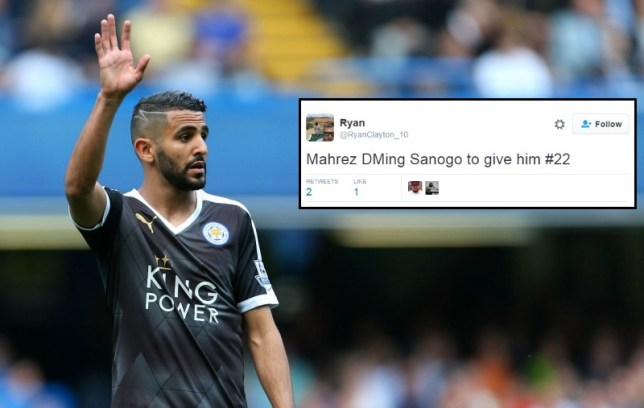 Mahrez apparently wants Sanogo's shirt number (Picture: Getty/Twitter)