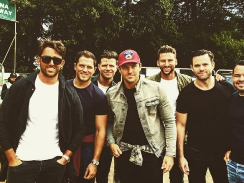 Mark Wright, Charlotte Crosby and Ferne McCann spotted partying with their V Festival squads