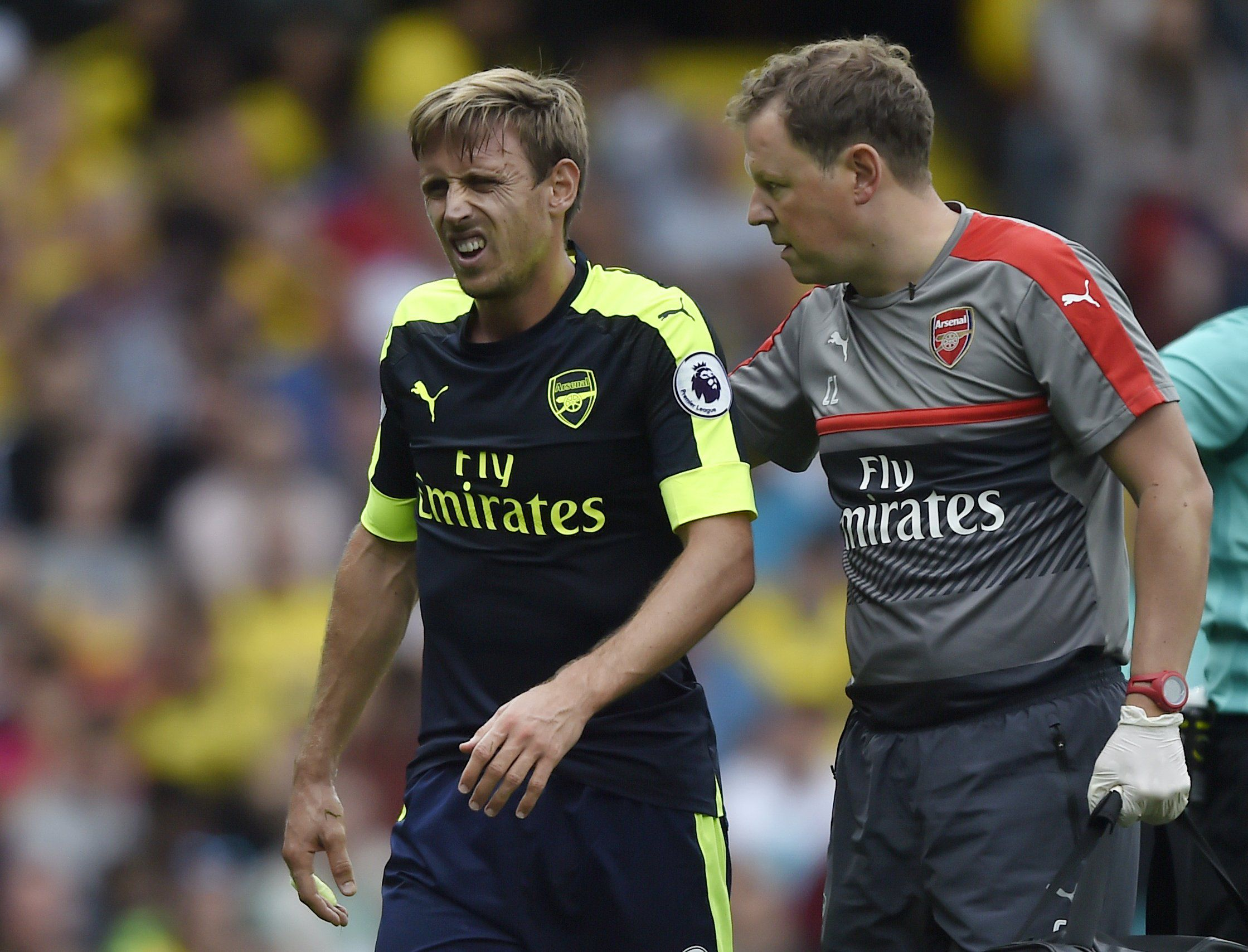 Arsenal boss Arsene Wenger confirms Nacho Monreal's injury is 'nothing major'