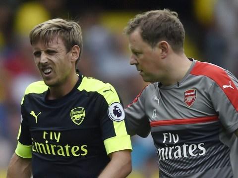 Arsenal boss Arsene Wenger confirms Nacho Monreal's injury is 'nothing major'