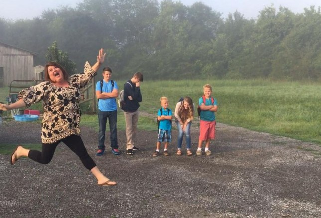 Mum's photos sum up 'first day back at school' feeling for