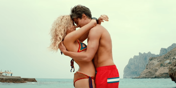 Pixie Lott has featured her real life boyfriend, Oliver Cheshire, in her new music video (Picture: YouTube)