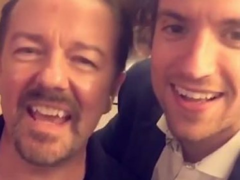 Greg James introduces Ricky Gervais to Snapchat and his reaction is classic old man