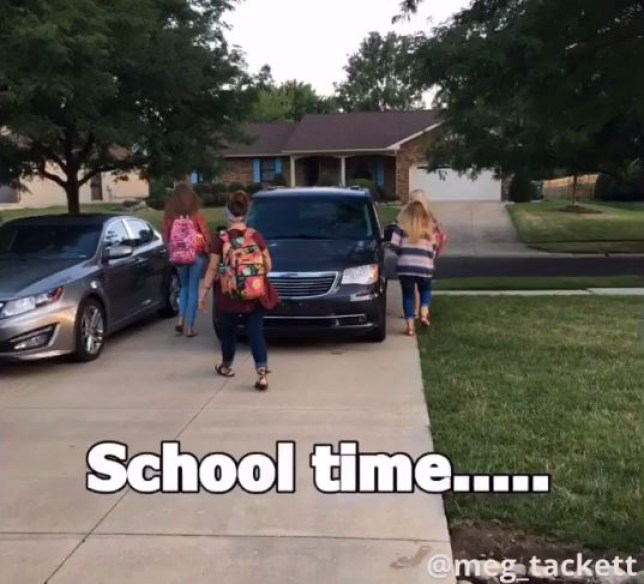 These parents trolled their teen daughters when they had to return to school