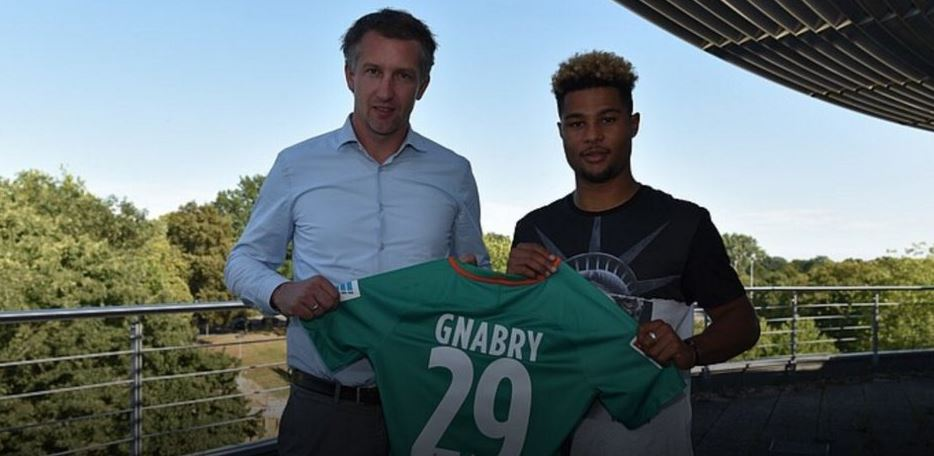 Arsenal winger Serge Gnabry completes transfer to Werder Bremen