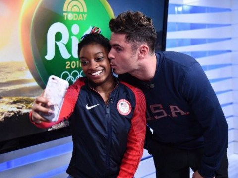 US Olympic gymnast Simone Biles met her crush Zac Efron and the internet reacted brilliantly
