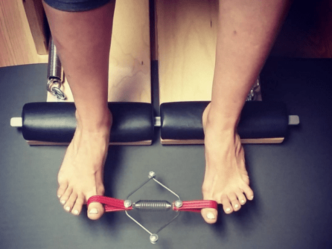 Someone's invented a tiny Pilates machine for strengthening toes