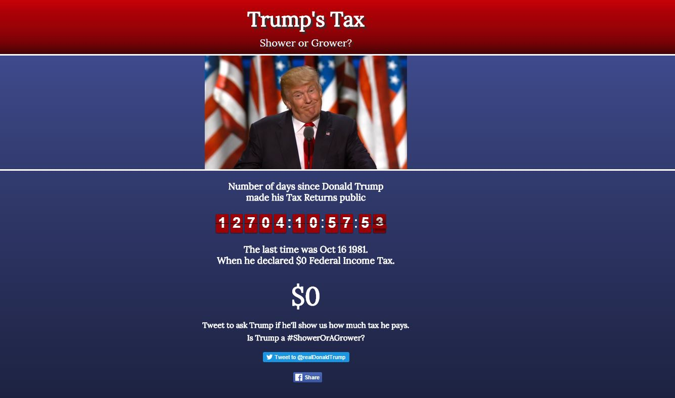 Website calls for Donald Trump to release his tax returns for first time in 35 years