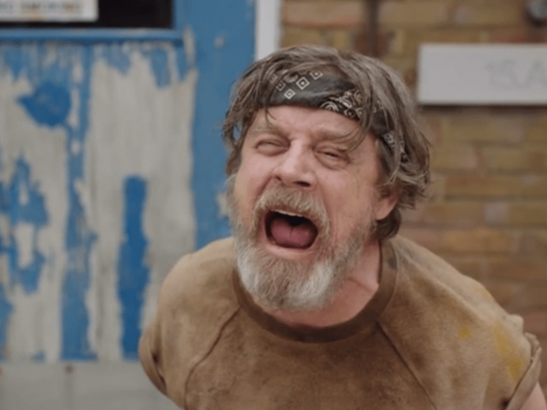 Star Wars actor Mark Hamill made a cameo in Man Down and fans couldn't deal