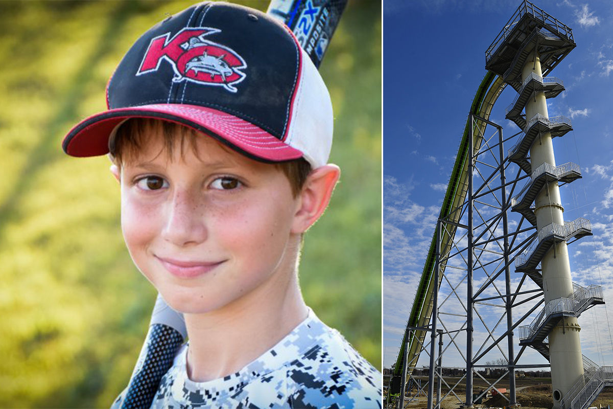 Boy who died on world's tallest water slide 'was decapitated'