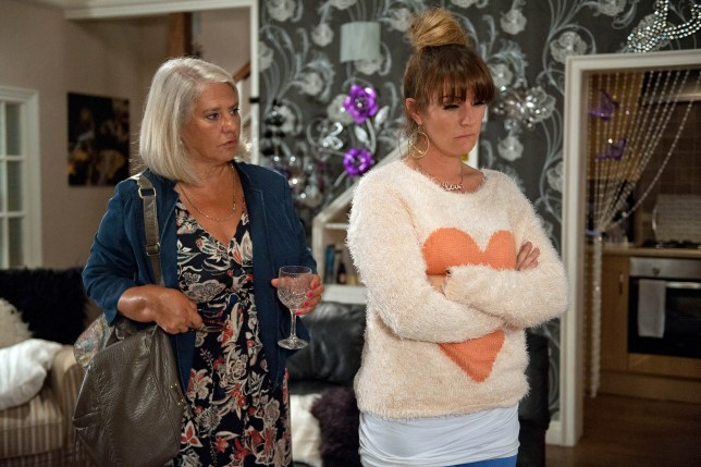 FROM ITV STRICT EMBARGO - NO USE BEFORE TUESDAY 20 SEPTEMBER 2016                                         Emmerdale - Ep 7625v Monday 26 September 2016 Kerry Wyatt's (LAURA NORTON) unease grows as she tries to convince herself she just has a stomach bug. But when she's overcome by nausea she feels certain she's pregnant. After a few interruptions she does a pregnancy test but doesn't dare look at the result. When Joanie (DENISE BLACK) returns she confides her fears.  Later Kerry finally checks the test and is devastated to see it is positive.  Picture contact: david.crook@itv.com on 0161 952 6214 Photographer - Amy Brammall This photograph is (C) ITV Plc and can only be reproduced for editorial purposes directly in connection with the programme or event mentioned above, or ITV plc. Once made available by ITV plc Picture Desk, this photograph can be reproduced once only up until the transmission (TX) date and no reproduction fee will be charged. Any subsequent usage may incur a fee. This photograph must not be manipulated (excluding basic cropping) in a manner which alters the visual appearance of the person photographed deemed detrimental or inappropriate by ITV plc Picture Desk. This photograph must not be syndicated to any other company, publication or website, or permanently archived, without the express written permission of ITV Plc Picture Desk. Full Terms and conditions are available on the website www.itvpictures.com