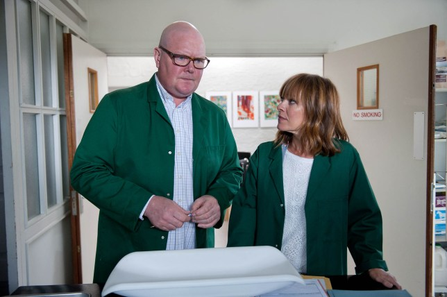 FROM ITV STRICT EMBARGO - NO USE BEFORE TUESDAY 20 SEPTEMBER 2016 Emmerdale - Ep 7629 Thursday 29 September 2016 - 2nd Ep Rhona Gokirk ZOE HENRY and Pierce return from a relaxing holiday but are alarmed to see Paddy Kirk DOMINIC BRUNT emerge from the vet's surgery. Paddy reassures Rhona he's moving on and bravely suggests they start divorce proceedings Picture contact: david.crook@itv.com on 0161 952 6214 Photographer - Amy Brammall This photograph is (C) ITV Plc and can only be reproduced for editorial purposes directly in connection with the programme or event mentioned above, or ITV plc. Once made available by ITV plc Picture Desk, this photograph can be reproduced once only up until the transmission TX date and no reproduction fee will be charged. Any subsequent usage may incur a fee. This photograph must not be manipulated excluding basic cropping in a manner which alters the visual appearance of the person photographed deemed detrimental or inappropriate by ITV plc Picture Desk. This photograph must not be syndicated to any other company, publication or website, or permanently archived, without the express written permission of ITV Plc Picture Desk. Full Terms and conditions are available on the website www.itvpictures.com