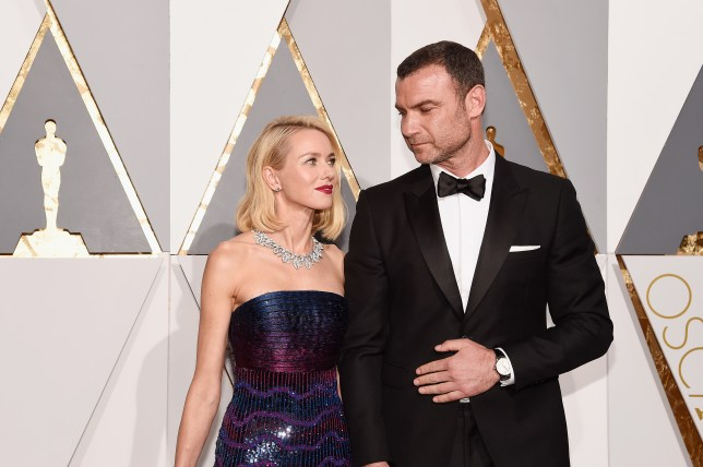 HOLLYWOOD, CA - FEBRUARY 28: Actors Naomi Watts (L) and Liev Schreiber attend the 88th Annual Academy Awards at Hollywood & Highland Center on February 28, 2016 in Hollywood, California. (Photo by Kevork Djansezian/Getty Images)