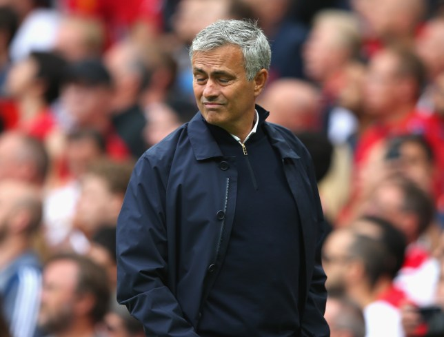 MANCHESTER, ENGLAND - SEPTEMBER 10: Jose Mourinho, Manager of Manchester United reacts during the Premier League match between Manchester United and Manchester City at Old Trafford on September 10, 2016 in Manchester, England. (Photo by Alex Livesey/Getty Images)