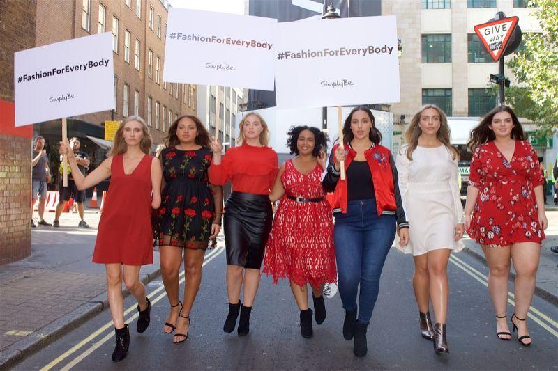 Protesters picket London Fashion Week saying #NoSizeFitsAll