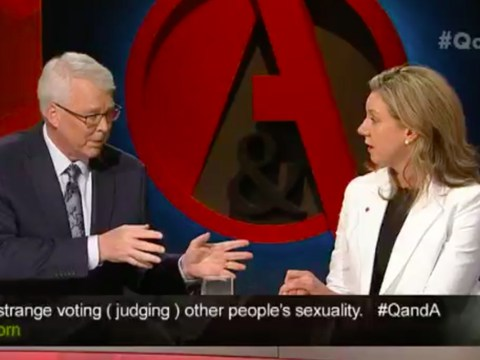Anti-gay marriage politician confronted on live TV – by her gay brother