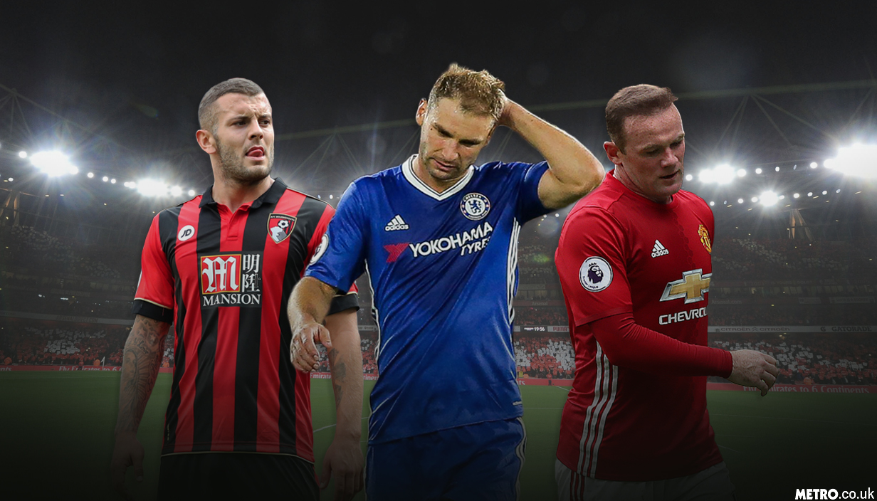 Metro.co.uk's Premier League flops of the week, including Wayne Rooney, Jack Wilshere, and Branislav Ivanovic