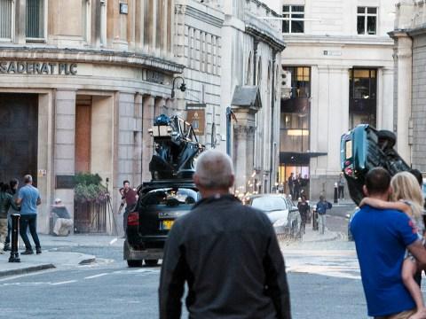 Transformers: The Last Knight films epic stunts on London streets