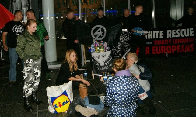Vile neo-Nazi gang set up 'whites only' food bank on streets of Glasgow SICKENED anti-racism campaigners say the group are bribing homeless to spread hate as Scottish members claimed to stage a pop-up food bank on Argyle Street.