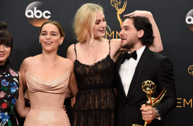 The Game Of Thrones cast are a staple on the Emmys red carpet (Picture: Getty)