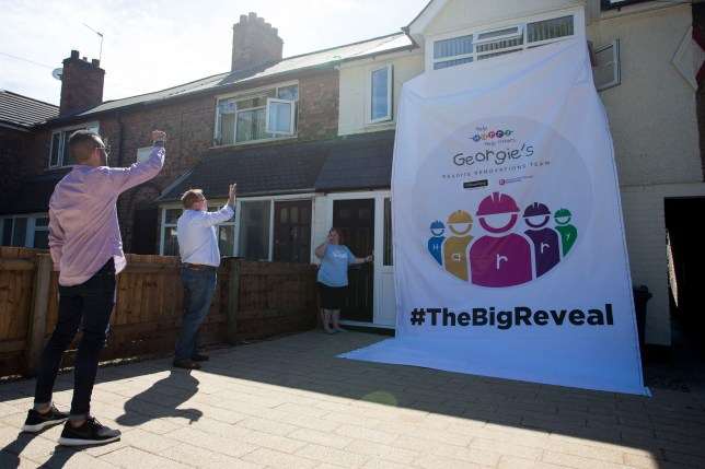 Family go abroad for cancer treatment, come home to find neighbours have made over their house