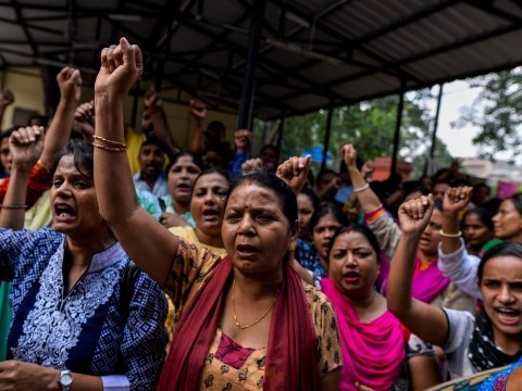 Largest strike in human history is taking place in India