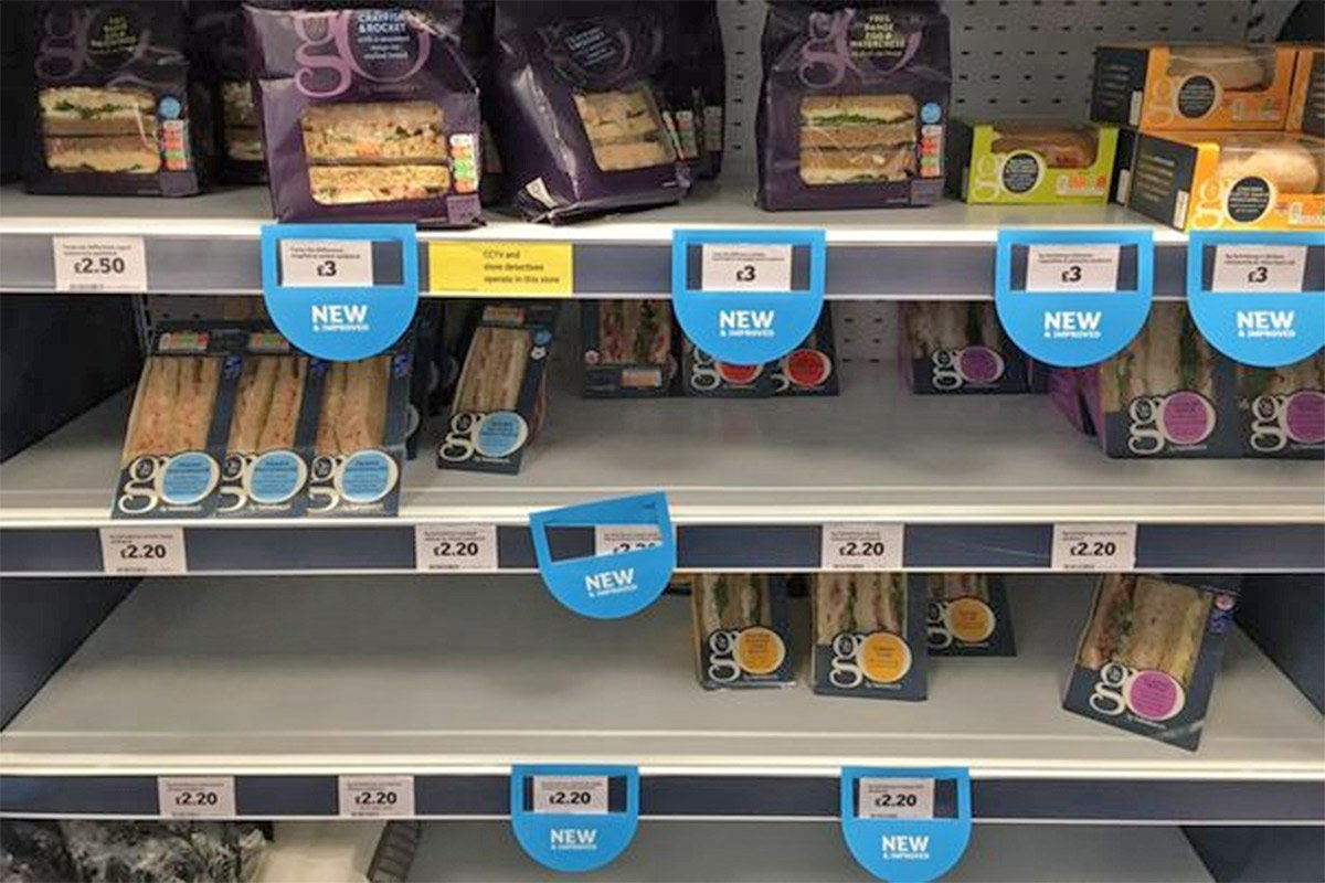 Sainsbury's just made this change to its £3 meal deal - internet is NOT happy pic: Sandwiches on shelves at Sainsbury's @jonmarkbaldwin/Twitter
