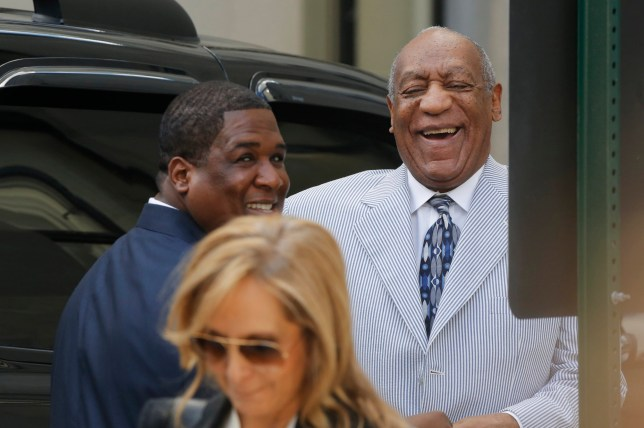 Comedian Bill Cosby laughs as he arrives at the Montgomery County Courthouse for a pretrial conference related to aggravated indecent assault charges on September 6, 2016, in Norristown, Pennsylvania. Cosby is expected to face trial on charges stemming from an encounter with Andrea Constand in 2004. / AFP PHOTO / DOMINICK REUTERDOMINICK REUTER/AFP/Getty Images