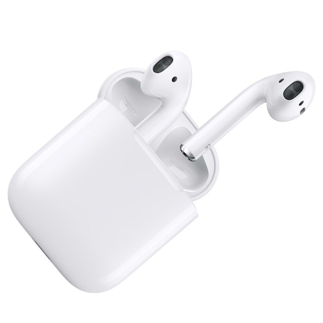 Undated handout photo issued by Apple of Apple Airpods unveiled during Apple's live event in San Francisco. PRESS ASSOCIATION Photo. Issue date: Thursday September 8, 2016. The AirPods contain sensors that can tell when they are in a user's ears, and can be connected to an iPhone or Apple Watch just by opening the smart box they come in, that also charges them. See PA story TECHNOLOGY iPhone. Photo credit should read: Apple/PA Wire NOTE TO EDITORS: This handout photo may only be used in for editorial reporting purposes for the contemporaneous illustration of events, things or the people in the image or facts mentioned in the caption. Reuse of the picture may require further permission from the copyright holder.