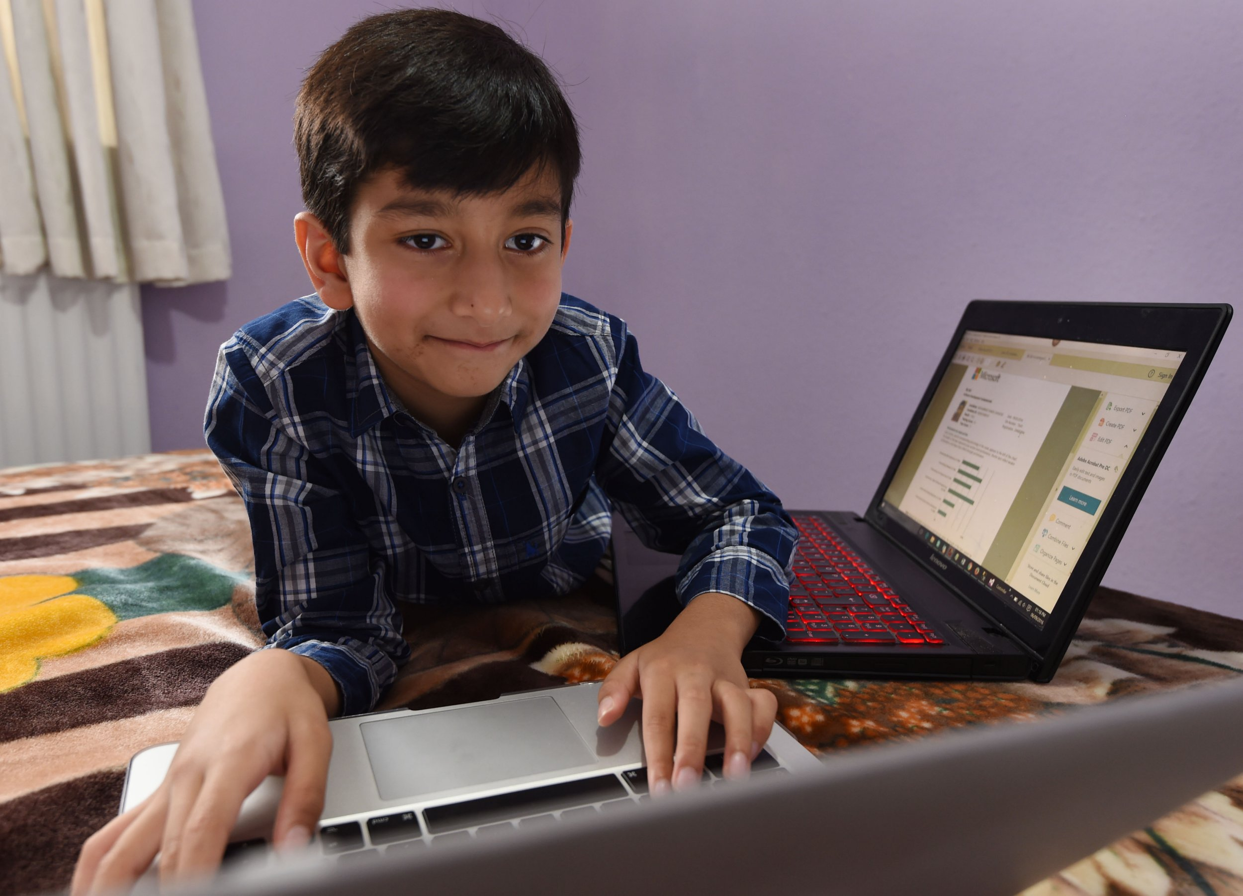 BPM MEDIA: 7 year old Muhammad Hamza Shahzad  from Handsworth Wood, Birmingham, who is the worlds youngest computer programmer and has been awarded qualifications and certificates from Microsoft for his achievements.