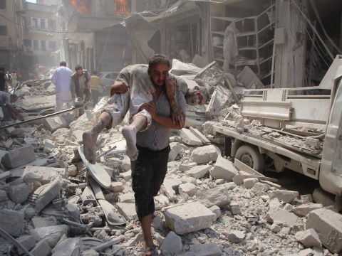 Bombs rain down on Syrian towns just hours after landmark truce