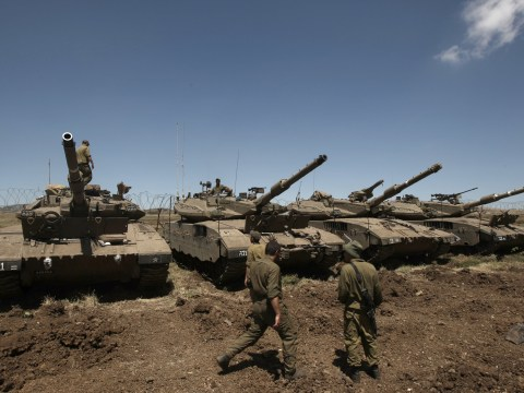 Syria 'shoots down Israeli aircraft' in disputed Golan Heights territory