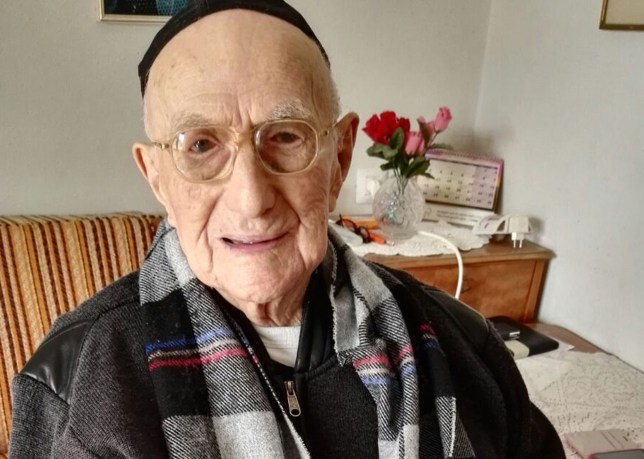 (FILES) This file photo taken on January 21, 2016 shows Yisrael Kristal, the world's oldest man, sitting in his home in the Israeli city of Haifa. Kristal, who survived the holocaust, turned 113 years old on September 15, 2016. His family say he was born in Poland on September 15, 1903, three months before the Wright brothers took the first aeroplane flight. / AFP PHOTO / SHULA KOPERSHTOUKSHULA KOPERSHTOUK/AFP/Getty Images